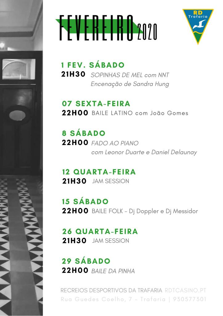 FEVEREIRO 2020 | RDTCASINO | TRAFARIA